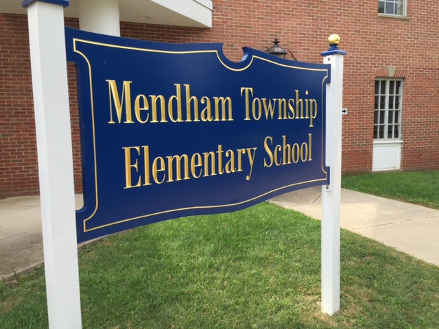 Mendham Township Elementary School Sign outside of Mendham Township Elementary School.