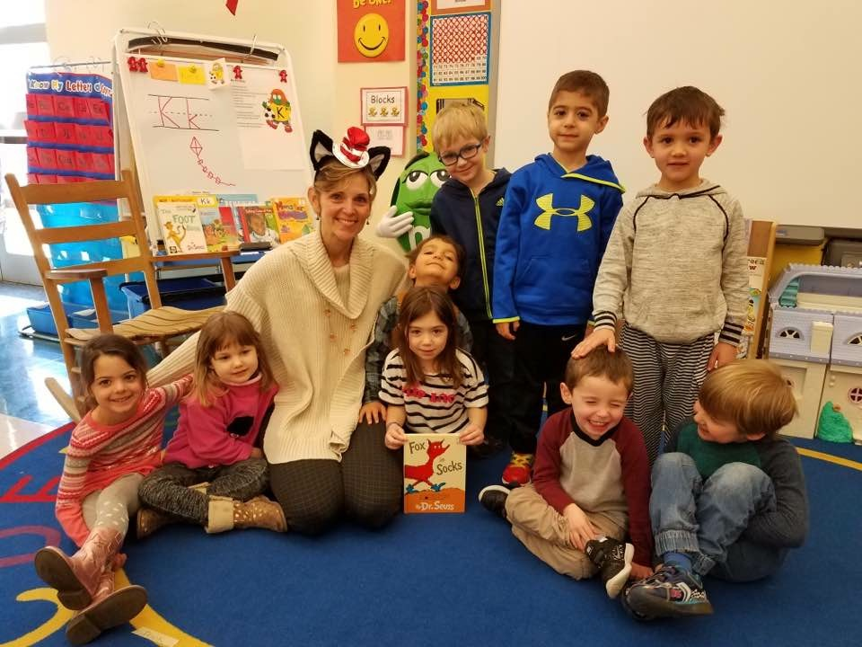 Classroom Picture with the principal and second grade class.