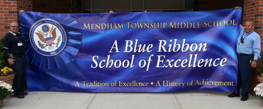 Photograph of Blue Ribbon School of Excellence Banner