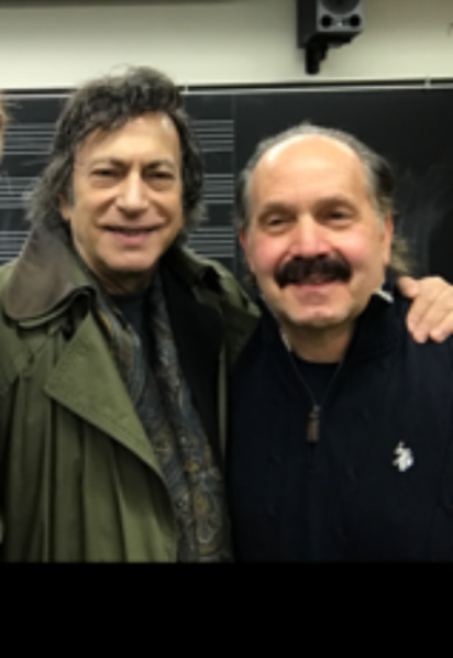 David Dubal and Mr. Bergamotto at Juilliard