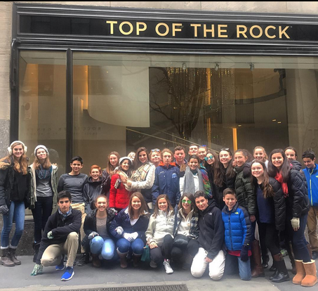 Students in front of Top of the Rock