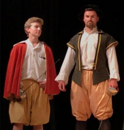 Student and Teacher acting during the Shakespeare Festival