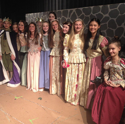 Students during the Shakespeare Festival