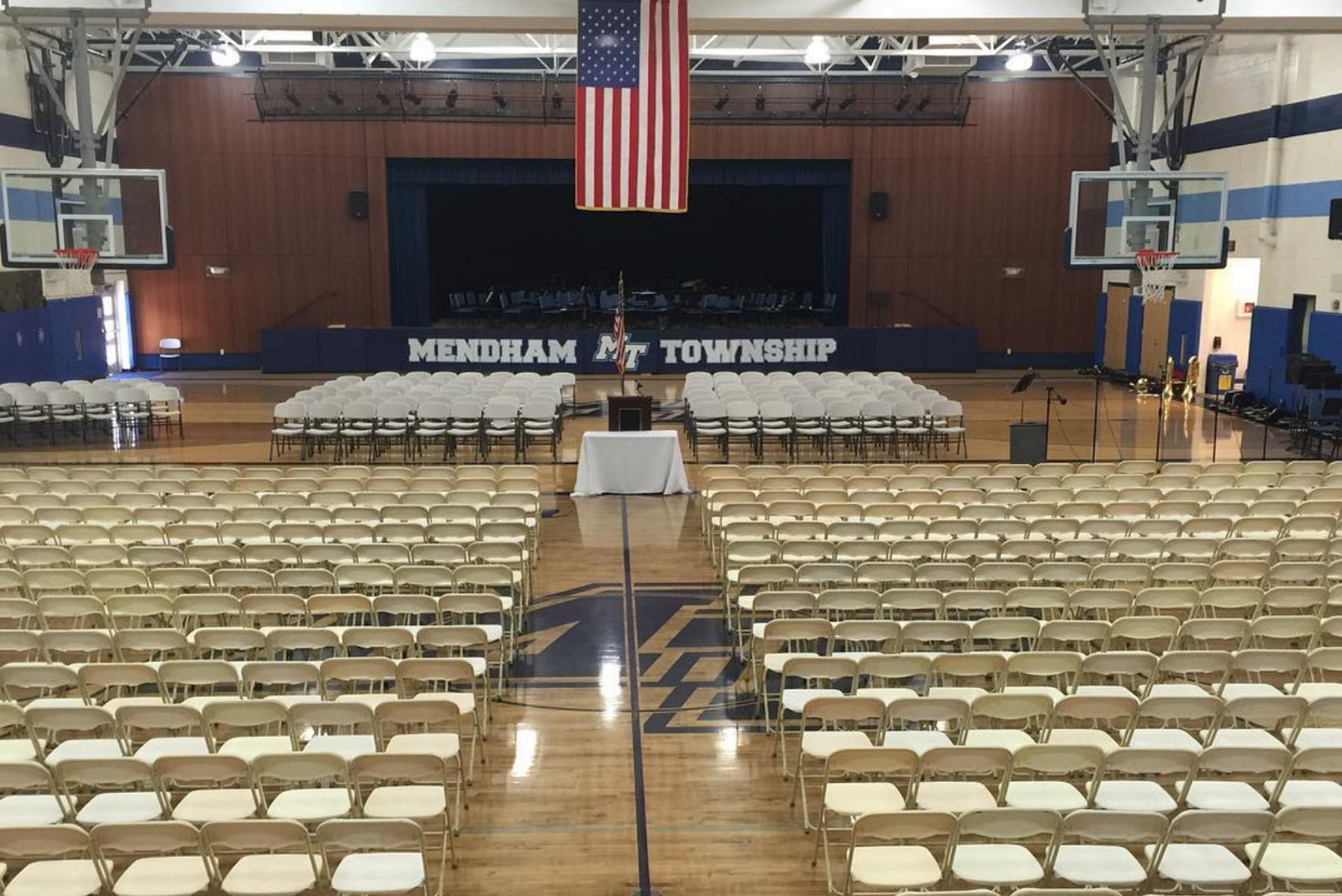 Mendham Township Middle School Stage Setup